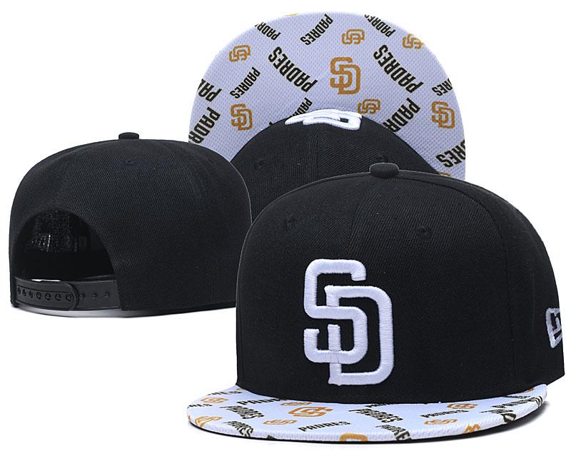 Padres Team Logo Black White Adjustable Hat TX
