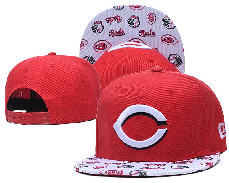 Reds Team Logo Red White Adjustable Hat TX