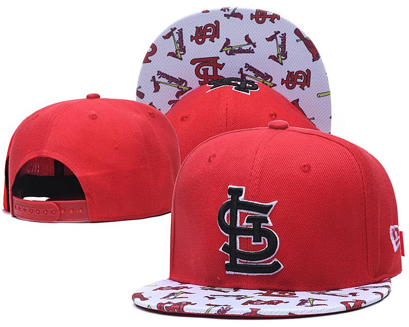 St. Louis Cardinals Team Logo Red White Adjustable Hat TX