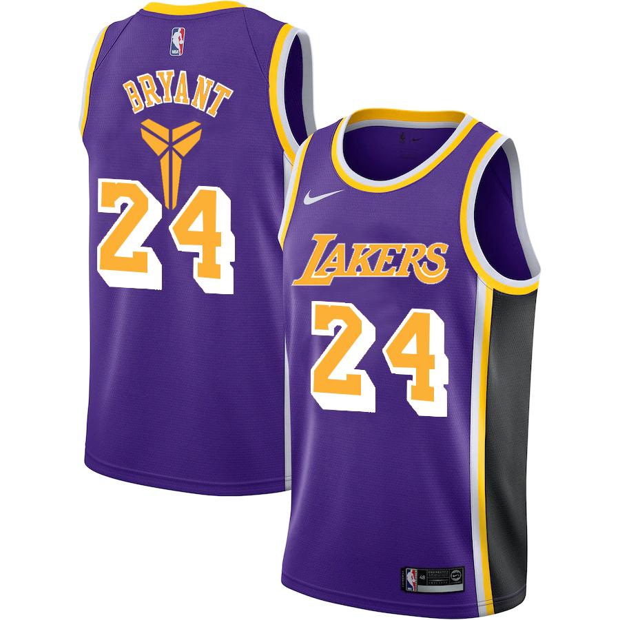 Lakers 24 Kobe Bryant Purple Nike Swingman Jersey