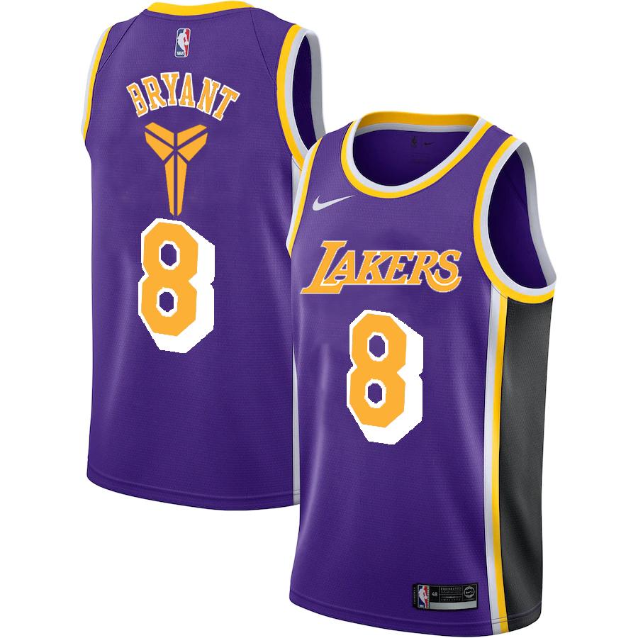 Lakers 8 Kobe Bryant Purple Nike Swingman Jersey