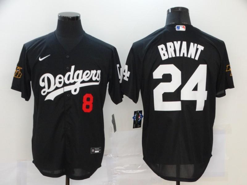 Dodgers 24 Kobe Bryant Black 2020 Nike KB Cool Base Jersey