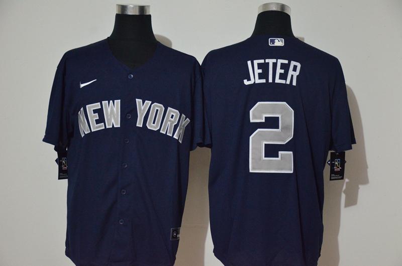 Yankees 2 Derek Jeter Navy Nike Cool Base Jersey