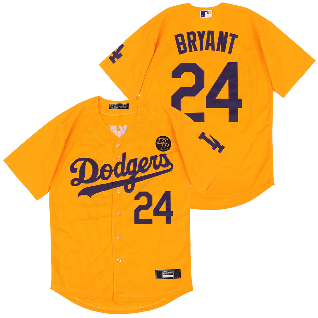 Dodgers 24 Kobe Bryant Yellow 2020 Nike KB Cool Base Jersey