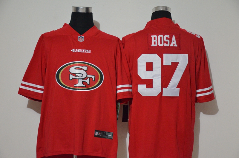 Nike 49ers 97 Nick Bosa Red Team Big Logo Vapor Untouchable Limited Jersey