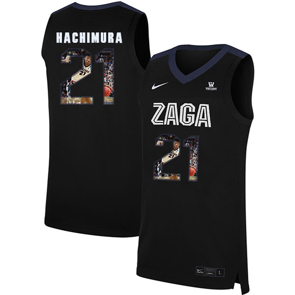 Gonzaga Bulldogs 21 Rui Hachimura Black Fashion College Basketball Jersey