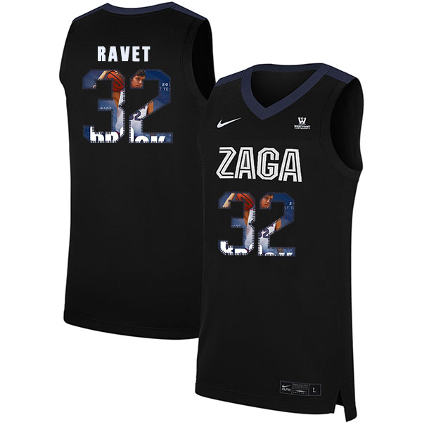 Gonzaga Bulldogs 32 Brock Ravet Black Fashion College Basketball Jersey