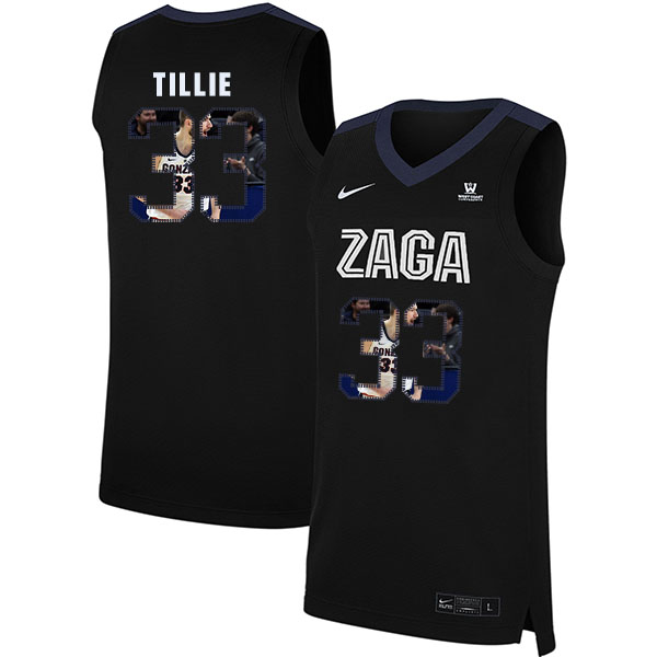 Gonzaga Bulldogs 33 Killian Tillie Black Fashion College Basketball Jersey