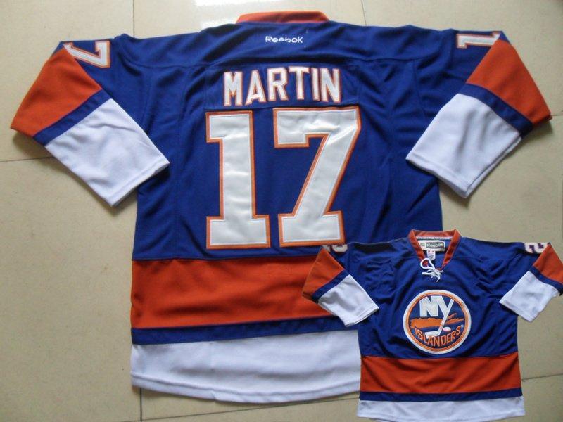 Islanders 17 Martin Blue Jersey