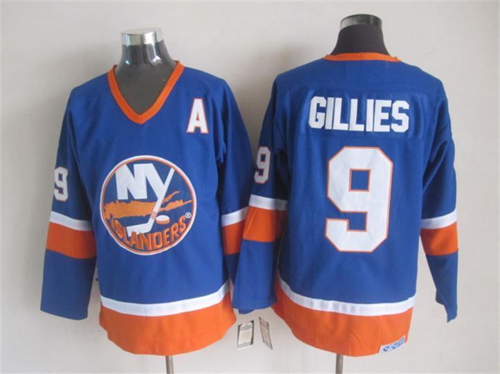 Islanders 9 Gillies Blue Jersey