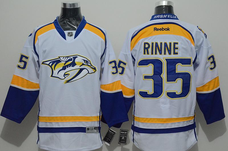 Predators 35 Rinne White Reebok Jersey