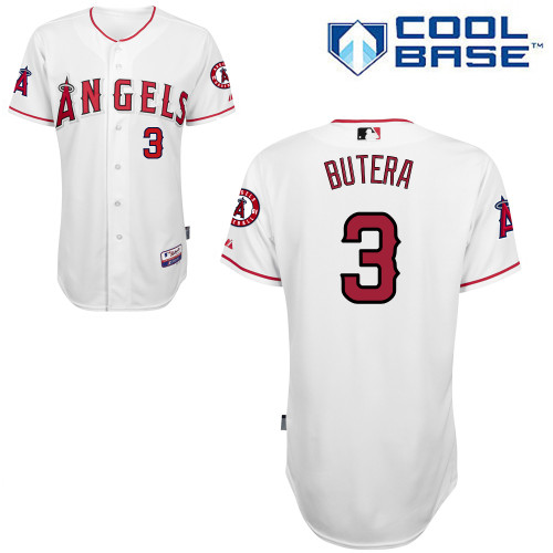 Angels 3 Butera White Cool Base Jerseys