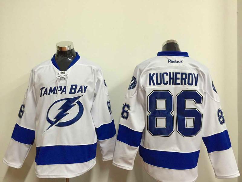 Lightning 86 Kucherov White Reebok Jersey