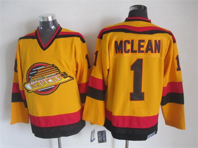 Canucks 1 Mclean Yellow Jersey