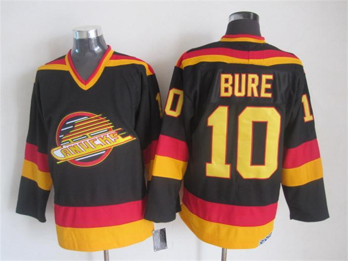 Canucks 10 Bure Black Jersey