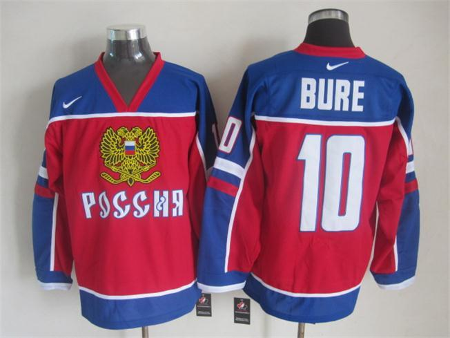 Canucks 10 Bure Red Jersey