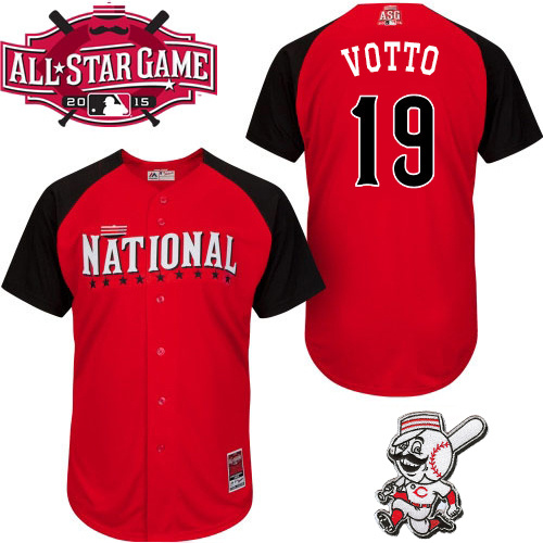 National League Reds 19 Votto Red 2015 All Star Jersey