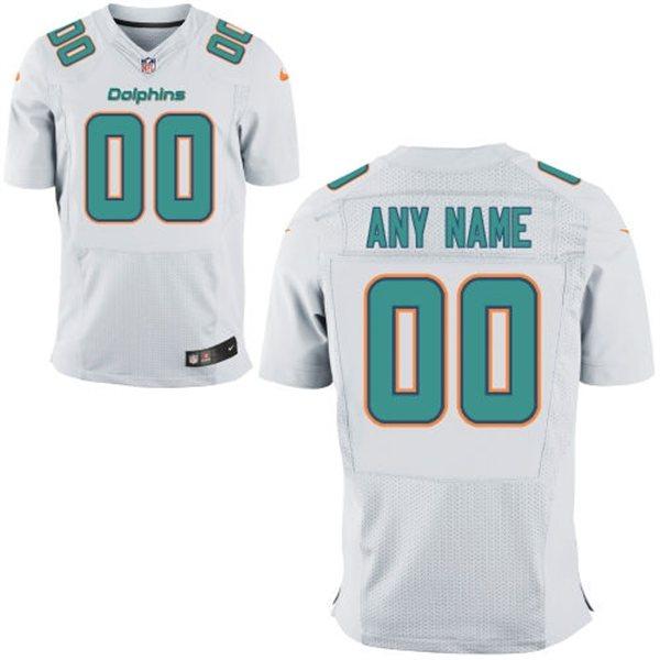 910dd39745ba Nike Miami Dolphins Customized New Elite White Jerseys
