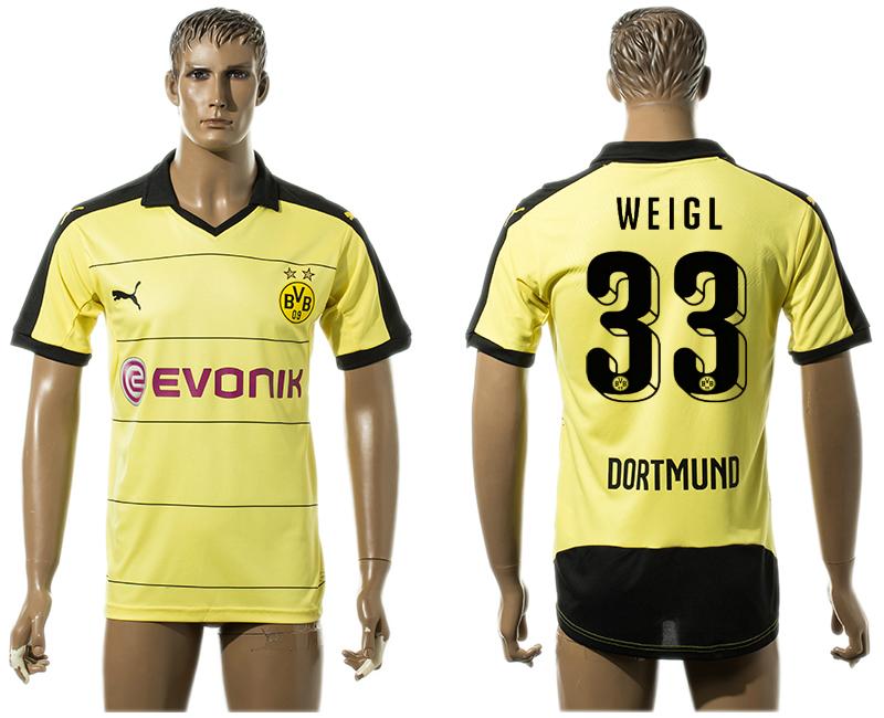 2015-16 Dortmund 33 WEIGL Home Thailand Jersey