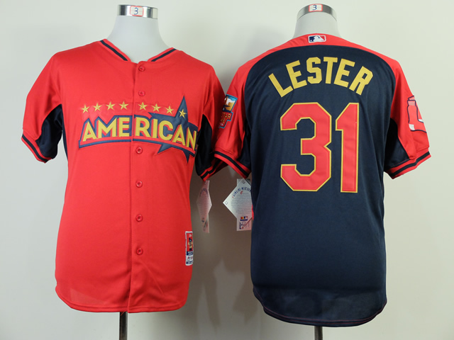 American League Red Sox 31 Lester Red 2014 All Star Jerseys
