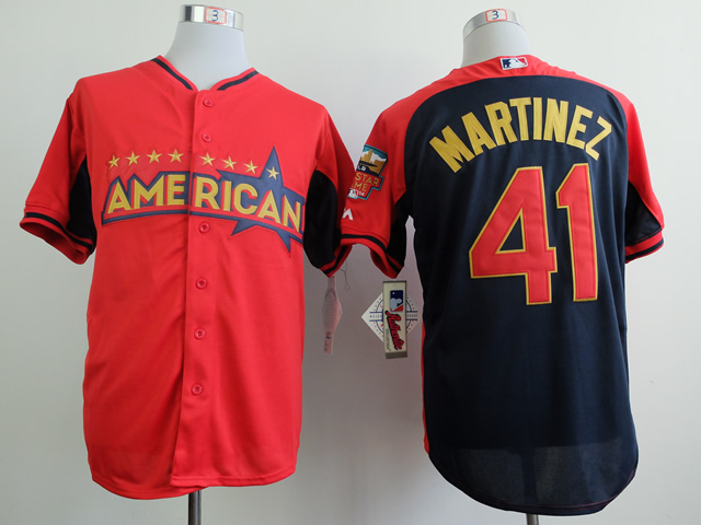 American League Tigers 41 Martinez Red 2014 All Star Jerseys