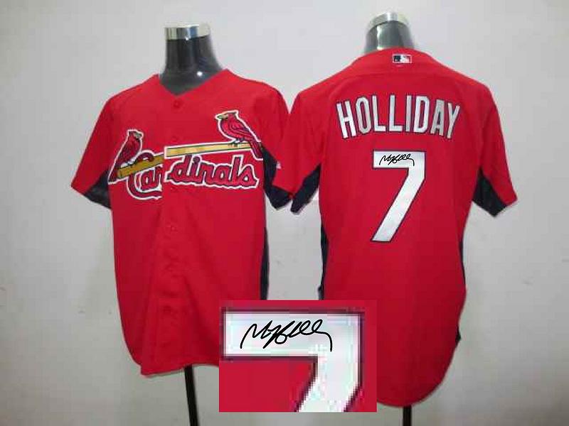 Cardinals 7 Holliday Red Signature Edition Jerseys