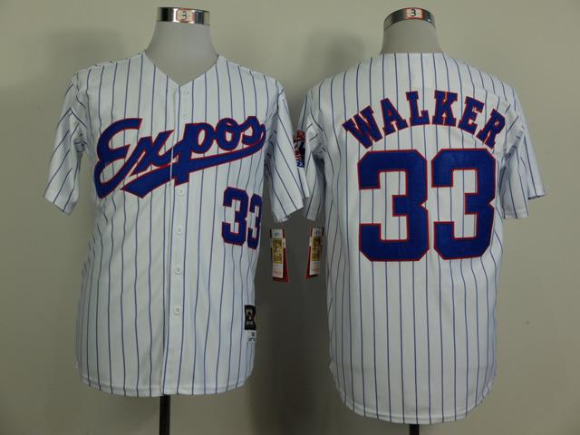 Expos 33 Walker White 1982 Throwback Jerseys