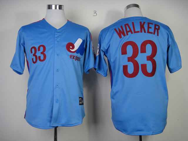 Expos 33 Walker blue Jerseys