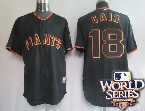 Giants 18 Matt black world series jerseys