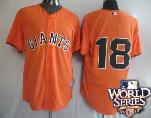 Giants 18 Matt orange world series jerseys