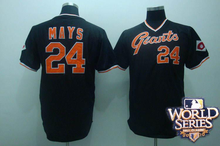 Giants 24 mays black world series jerseys