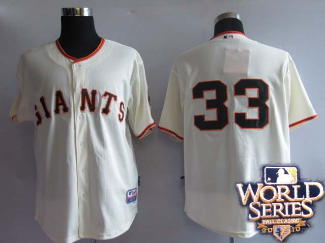 Giants 33 Rowand cream world series jerseys