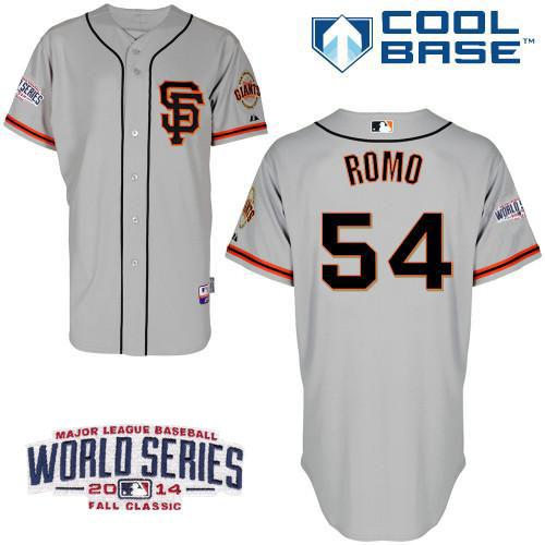Giants 54 Romo Grey 2014 World Series Cool Base Road 2 Jerseys