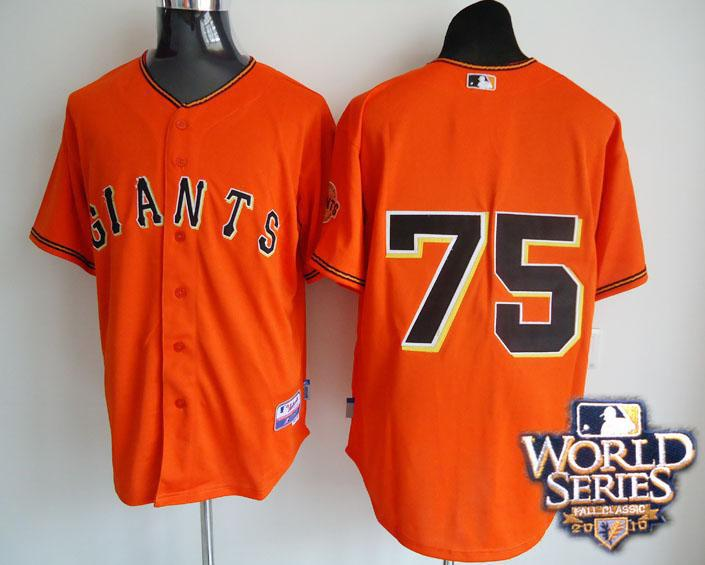 Giants 75 Zito orange world series jerseys