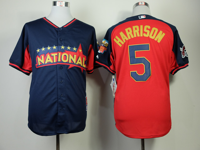 National League 5 Harrison Blue 2014 All Star Jerseys