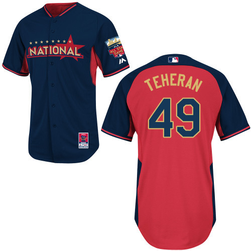 National League Braves 49 Teheran Blue 2014 All Star Jerseys