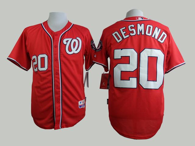 Nationals 20 Desmond Red Cool Base Jersey