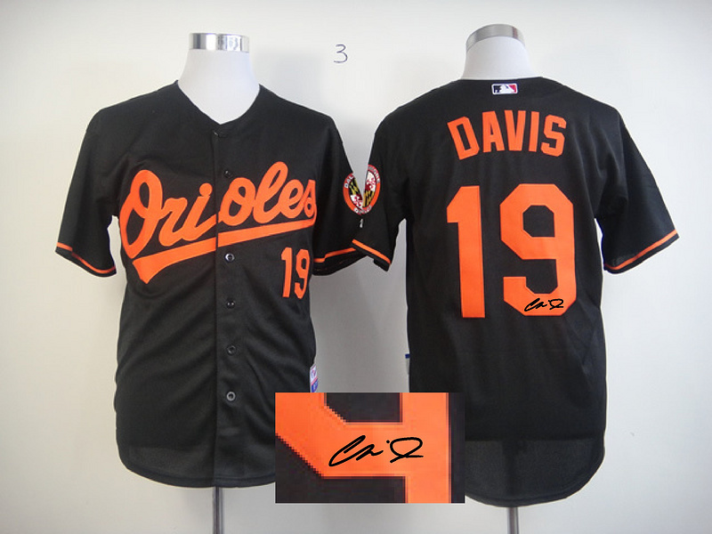 Orioles 19 Davis Black Signature Edition Jerseys