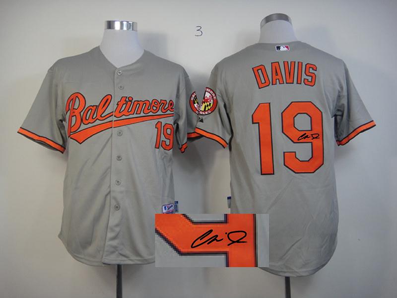 Orioles 19 Davis Grey Signature Edition Jerseys