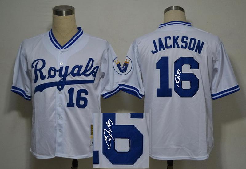 Royals 16 Jackson White Signature Edition Jerseys