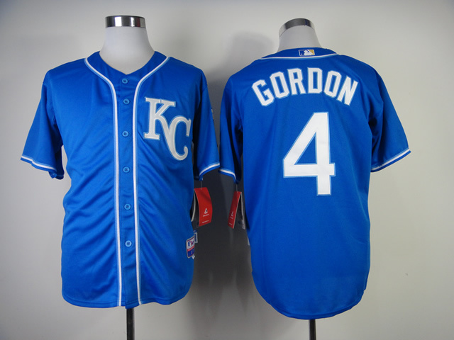 Royals 4 Gordon Alternate 2 Cool Base Jerseys