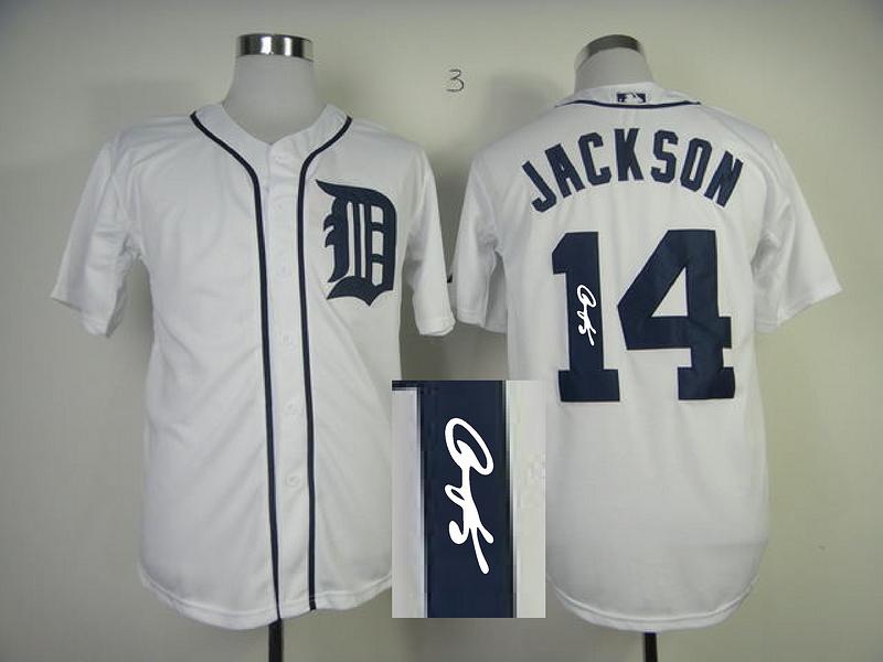 Tigers 14 Jackson White Signature Edition Jerseys