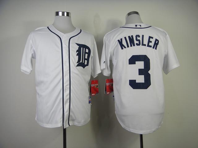 Tigers 3 Kinsler White Jerseys