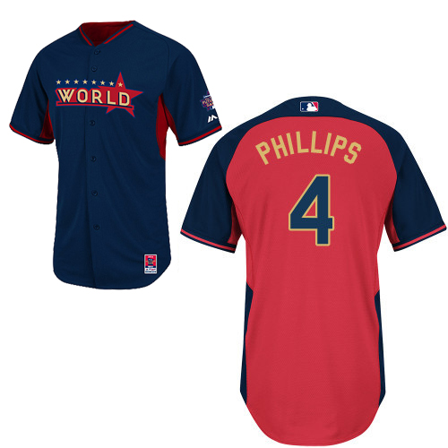 World 4 Phillips Blue 2014 Future Stars BP Jerseys