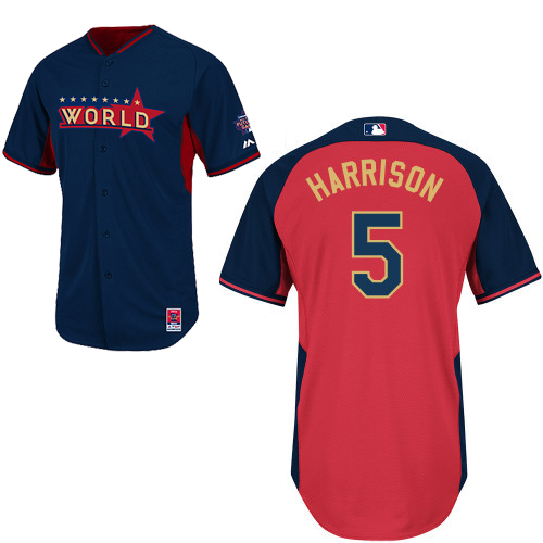 World 5 Harrison Blue 2014 Future Stars BP Jerseys
