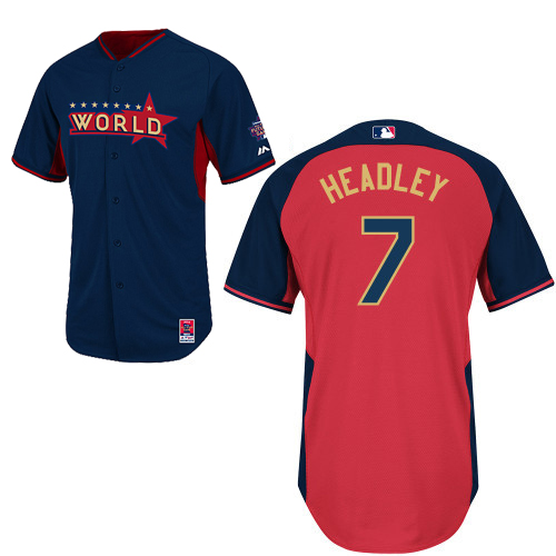 World 7 Headley Blue 2014 Future Stars BP Jerseys