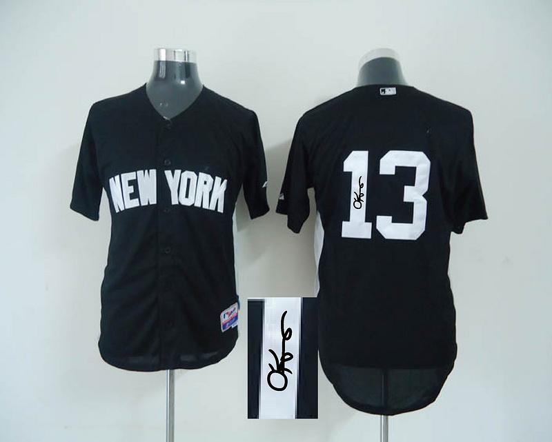 Yankees 13 Rodriguez Black Signature Edition Jerseys
