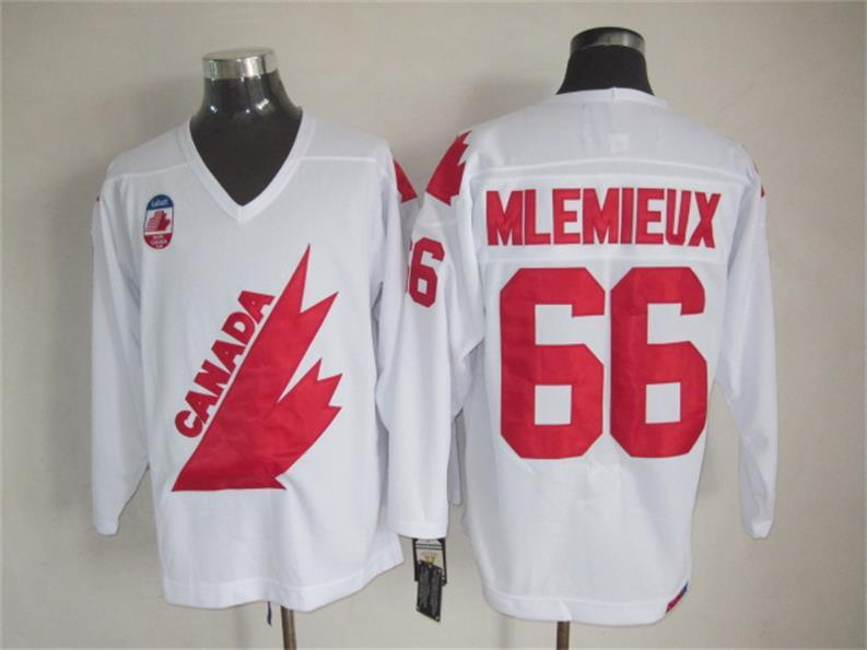 Canada 66 Mlemieux White Throwback Jersey