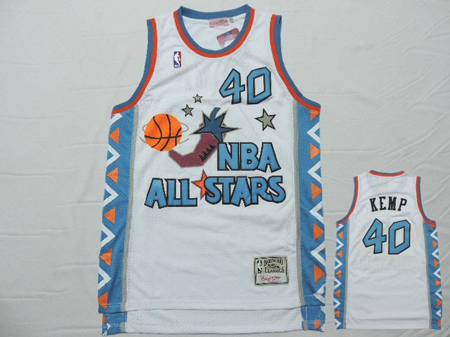 1996 All Star 40 Shawn Kemp White Hardwood Classics Jersey