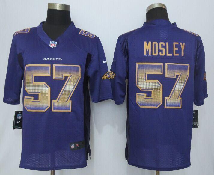 Nike Ravens 57 C.J. Mosley Purple Pro Line Fashion Strobe Jersey